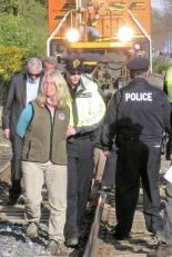 Lynne Quarmby arrested in 2012 for blocking a coal train