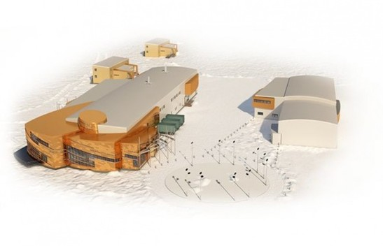 Illustration of the Canadian High Arctic Research Station in Cambridge Bay, Nunavut