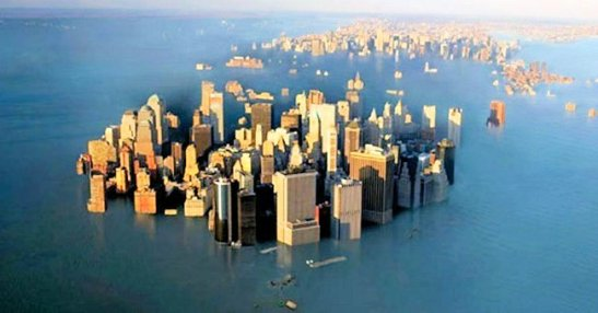 """Roughly 10 feet of sea level rise—well beyond previous estimates—would render coastal cities such as New York, London, and Shanghai uninhabitable."" Photo credit: Woodbine"