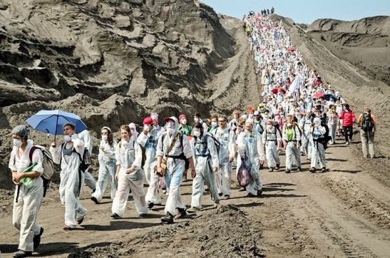 UK's largest opencast coal mine was shut down for a day. Photo credit: Tim Wagner