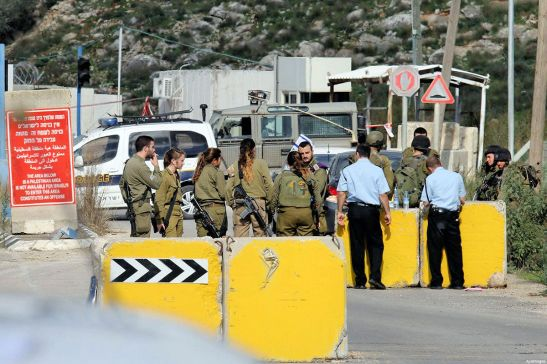 Israeli military checkpoint
